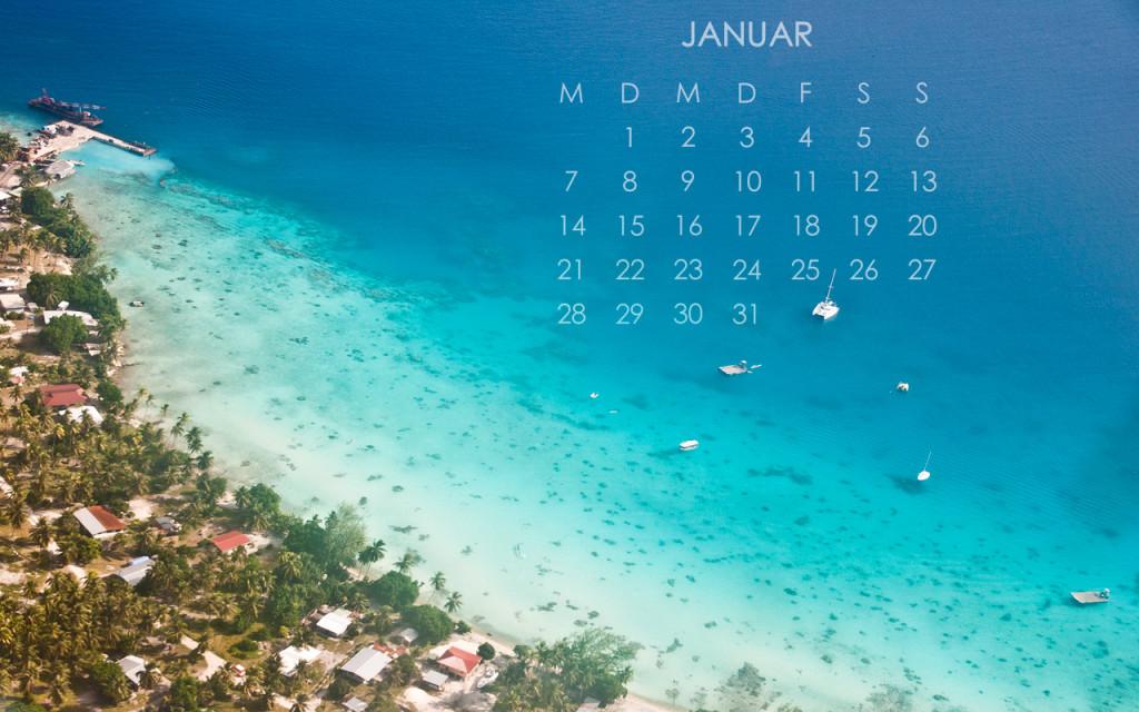 2013 Desktop Kalender Januar